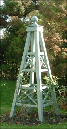 Wooden Garden Obelisks Beautiful, Affordable Designs Give Height Focus In Your Garden
