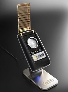 Bluetooth Star Trek Communicator - This is a functioning replica of the original Star Trek communicator, designed by The Wand Company to the exact TV show specs. It uses Bluetooth to link with your phone allowing you to use the Communicator instead of your basic-ass iPhone 6 or whatnot. | werd.com