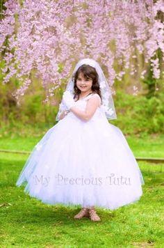 6b07da3ec233 First Holy Communion Dress, Communion Dress, Holy Communion, Flower Girl  Dress, Tulle Dress, Tulle T