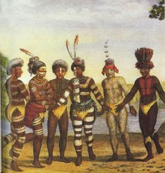 Early paintings of the Caribbeans (Taino & Arawak) were shown as darker and with curly hair. Over time this changed.