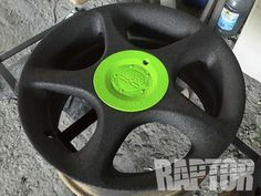 WHEEL: Full Overspray #raptorised 4x4 Accessories, Bed Liner, Plastic Coating, Plates, Cars, Vehicles, Licence Plates, Dishes, Plate