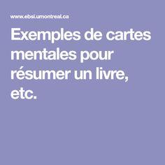 Exemples de cartes mentales pour résumer un livre, etc. Mindfulness, Map, Cards, Location Map, Maps, Consciousness