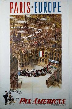 PanAm Paris Europe Poster | by San Diego Air & Space Museum Archives