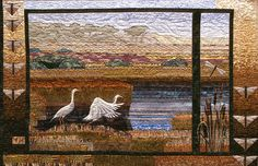 Helene Knott lives in Oregon, and many of her quilts depict scenes from here.