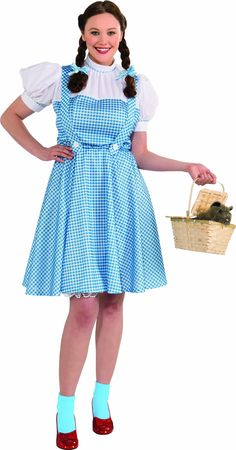 rubies costume plus size wizard of oz deluxe dorothy bluewhite - Size 18 Halloween Costumes