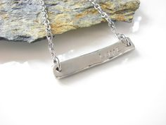 Hand Stamped LOVE Necklace  New Pewter and Stainless by AoDesigns, $28.00