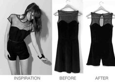 DIY romper  http://www.minipennyblog.com/2011/06/dress-to-playsuit-diy.html?m=1