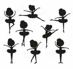 Ballerina clip art for wall art