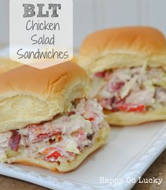BLT Chicken Salad Recipe- I would use REAL bacon....not turkey bacon, bleck!