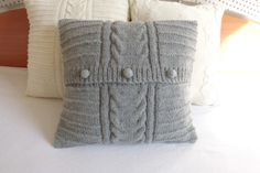 Hey, I found this really awesome Etsy listing at https://www.etsy.com/listing/155871779/charcoal-hand-knitted-cushion-cover-gray