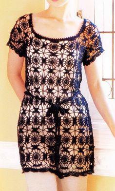 Ganchillo suéter: Crochet Lace Pattern Túnica - Niza