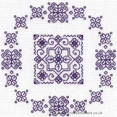 Forget-Me-Nots - Holbein Embroideries Blackwork Kit
