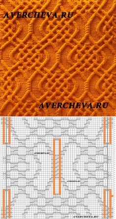 "узор для вязания спицами "" подушка с аранами"" | каталог вязаных спицами узоров"