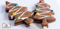 Biscuits chocolat en forme de sapin de Noel