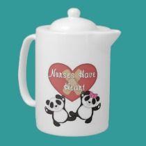 Nurses Have Heart teapots
