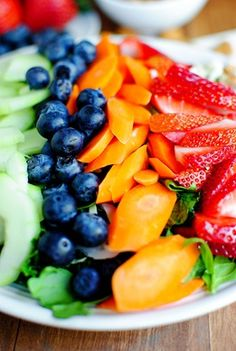 fresh fruit....pass the lemon poppyseed dressing!