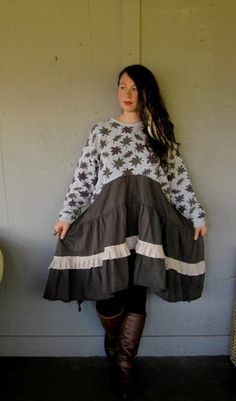 XLarge1X2X plus upcycled clothing Romantic by lillienoradrygoods, $98.50