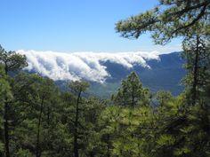 La Palma, wie die Wolken ihren Weg von Ost nach West sich bahnen...