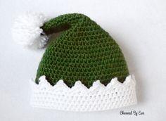 Free Elf Hat Crochet Pattern, X-mas, Christmas, #haken, gratis patroon (Engels), muts, elf, Kerstmis, haakpatroon