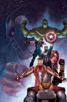 #Avengers #Fan #Art. (Avengers Cover) By: ZurdoM. (THE * 5 * STÅR * ÅWARD * OF: * AW YEAH, IT'S MAJOR ÅWESOMENESS!!!™)[THANK U 4 PINNING!!!<·><]<©>ÅÅÅ+(OB4E)             https://s-media-cache-ak0.pinimg.com/474x/e4/58/f3/e458f3109f90b6c109724c29233e2f20.jpg