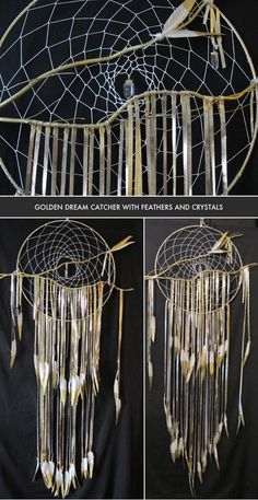 THE FINISHED DIY GOLD DREAM CATCHER