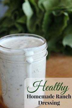 Homemade And Healthy: Buttermilk Ranch Dressing. I know ranch dressing gets a bad rap, but this homemade dressing is amazing! It tastes wonderful PLUS all the fat is healthy fat, and contains probiotics!use gf ingreds if needed. Real Food Recipes, Cooking Recipes, Yummy Food, Healthy Recipes, Pasta Recipes, Crockpot Recipes, Soup Recipes, Vegetarian Recipes, Chicken Recipes