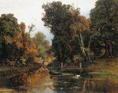 Запушенный парк в Мариенбурге . 1878. Yuli Yulievich Klever (Russian, 1850-1924)