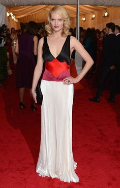 Amber Valletta in Prada at the 2012 Met Gala