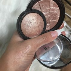 "Anastasia Beverly Hills Illuminator ""Rivera"" Dupes: E.l.f. Highlighter ""Blush Gems""."