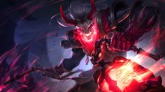 Bloodmoon Thresh Skin Splash Art League of Legends 1920x1080