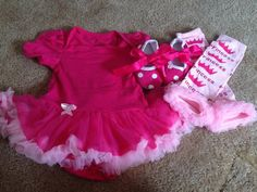 Onsie Tutu SET, Leg warmers, Shoes, Princess outfit, Pink outfit, Pink tutu onsie, petti ruffle skirt on Etsy, $35.00