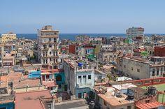 Les vieux immeubles du quartier Centro à La Havane