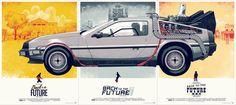 Back to the Future Trilogy Set | Designer: Phantom City Creative - http://phantomcitycreative.com | Printer: D & L Screenprinting - http://www.dlscreenprinting.com