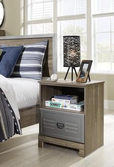 Fall in love with the McKeeth Multi One Drawer Night Stand by Signature Design by Ashley at Direct Value Furniture proudly serving Roscoe, IL and surrounding areas for over 10 years! Value Furniture, Diy Furniture Decor, Living Furniture, Furniture Projects, Furniture Makeover, Furniture Design, Handmade Wood Furniture, Solid Wood Furniture, Multipurpose Furniture