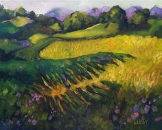 Napa Vineyard View - Original Fine Art for Sale - © Libby Anderson