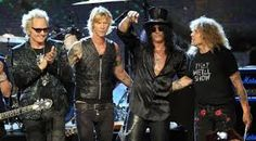 Matt Sorum, Duff McKagan, Slash and Steven Adler.