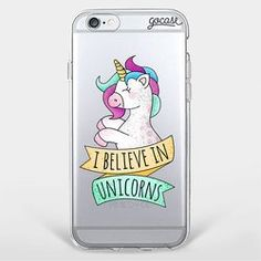 Capinha para celular I Believe in Unicorns
