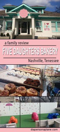 Five Daughters Bakery Nashville Tennessee Cronuts Doughnuts 100 Layers Organic GMO Free Bakery diapersonaplane diapers on a plane creating family memories traveling with kids family travel Nashville Vacation, Visit Nashville, Tennessee Vacation, Nashville Tennessee, East Tennessee, Nashville Kids, Nashville Attractions, Nashville Restaurants, Solo Travel