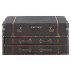 DecMode Rectangular Coffee Table with Drawers - 55788