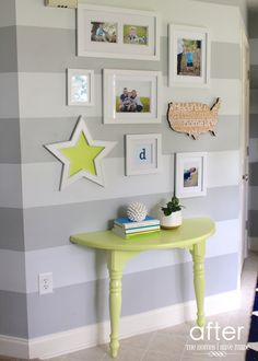 A Lemon-Lime Console Table (and Entryway Update!)