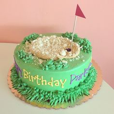 Golf Theme Buttercream Birthday Cake / 2tarts Bakery / New Braunfels, TX / www.2tarts.com