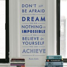 Dream Believe Achieve Quote - Dana Decals - 1