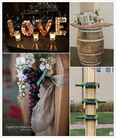 Wine theme wedding decoration: the full of ideas - Decoration For Home Italian Wedding Themes, Front Room Decor, Bordeaux, Rustic Kitchen Decor, Italian Wine, Wedding Looks, Ladder Decor, Wedding Decorations, Wine Lover