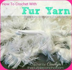 A DIY Crochet Video Tutorial on how to crochet with Fur Yarn. I really love the look and feel of adding the fur yarn to my projects. This video will show you how to crochet with it. I hope you give…