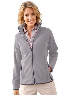 Collection L. Fleece-Jacke mit Umlegekragen ab 29,99€. Fleece-Jacke mit 2 Reißverschluss-Taschen, Polyester, Figurumschmeichelnde Form bei OTTO