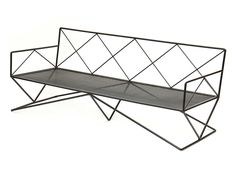 Iron Sofa by Darrell Landrum   From a unique collection of antique and modern settees at http://www.1stdibs.com/furniture/seating/settees/