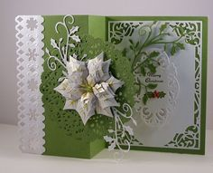 Image result for Spellbinders layered poinsettia + cards