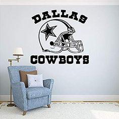 cbebfa7cf95 Dallas Cowboys Vinyl Decal Sticker Wall Football Logo NFL Sport Home  Interior Removable Decor (22