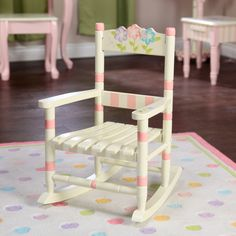 Have to have it. Fantasy Fields Bouquet Slatted Rocking Chair - $63.8 @hayneedle