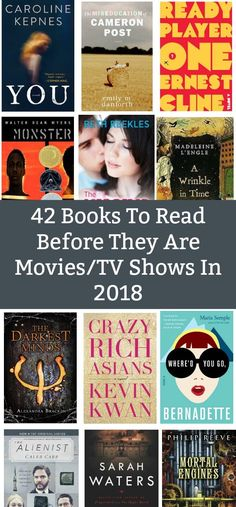 List of books that are becoming movies or tv shows in 2018! 42 books!!!